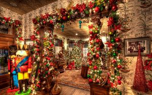 Preview wallpaper holiday, christmas, ornaments, toys, christmas tree