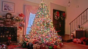 Preview wallpaper holiday, christmas tree, new year, ornament
