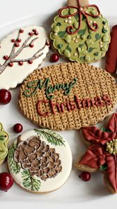 Preview wallpaper holiday, cookies, sweets, treats, new year, mood