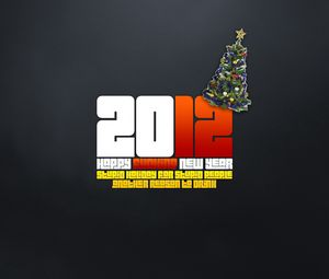 Preview wallpaper holiday, new year, inscription