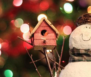 Preview wallpaper holiday, toys, christmas tree