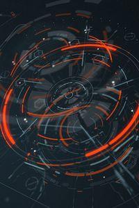 Preview wallpaper hologram, scheme, sci-fi, digital, circles, lines, elements