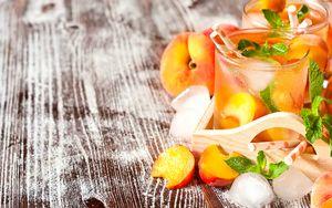 Preview wallpaper homemade lemonade, beverage, peach, ice, mint