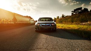 Preview wallpaper honda, accord, acura, tsx, front view