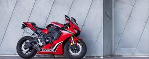Preview wallpaper honda, motorcycle, bike, sport bike, red