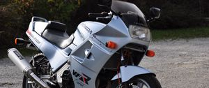 Preview wallpaper honda, motorcycle, bike, gray, headlight, moto