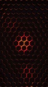 Preview wallpaper hexagons, cells, texture, glow, dark