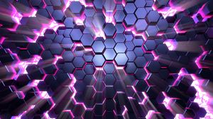 Preview wallpaper honeycomb, glow, volume