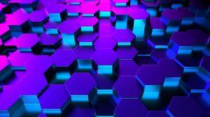 Preview wallpaper honeycomb, hexagon, 3d, volume