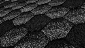 Preview wallpaper honeycomb, hexagon, surface, gray