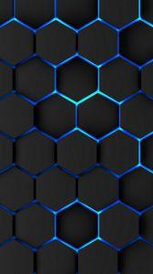 Preview wallpaper honeycomb, volume, iron