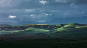 Preview wallpaper horizon, field, hills, sky, clouds