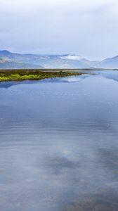 Preview wallpaper horizon, mountains, lake, clouds, reflection, landscape