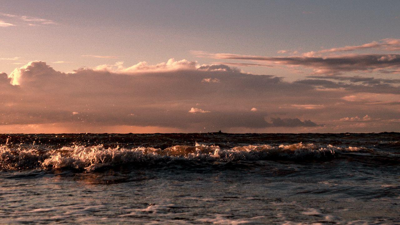 【壁纸桌面】地平线,大海,海浪,海岸,天空高清壁纸免费下载