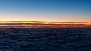 Preview wallpaper horizon, sky, clouds, sunset