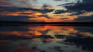 Preview wallpaper horizon, sunset, sky, river