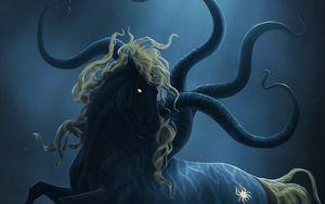 Preview wallpaper horse, mane, demon, art