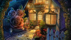 Preview wallpaper house, art, flowers, yard, fabulous