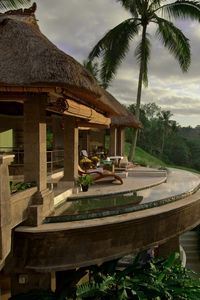 Preview wallpaper house, paradise, beautiful, palm trees, balcony, nature