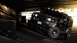 Preview wallpaper hummer, h2, black, off road, suv