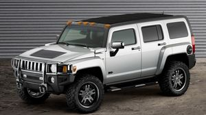 Preview wallpaper hummer, h3, auto, gray
