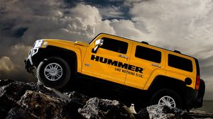 Preview wallpaper hummer, h3, auto, yellow, left side