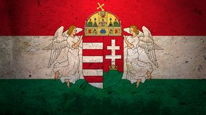 Preview wallpaper hungary, flag, background, symbol, texture