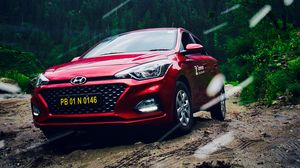 Preview wallpaper hyundai, car, front view, red