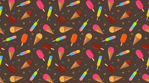 Preview wallpaper ice cream, multicolored, patterns, texture