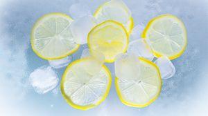 Preview wallpaper ice, lemons, citrus