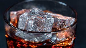 Preview wallpaper ice, liquid, bubbles, closeup, glass