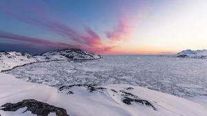 Preview wallpaper ice, ocean, snow, kulusuk, greenland