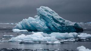 Preview wallpaper iceberg, ice, water, frozen