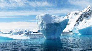 Preview wallpaper iceberg, antarctica, ice floe, ocean