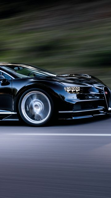 360x640 Wallpaper bugatti, chiron, speed, side view