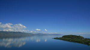 Preview wallpaper day of lake sevan, sevan, armenia, lake, august 1920x1080