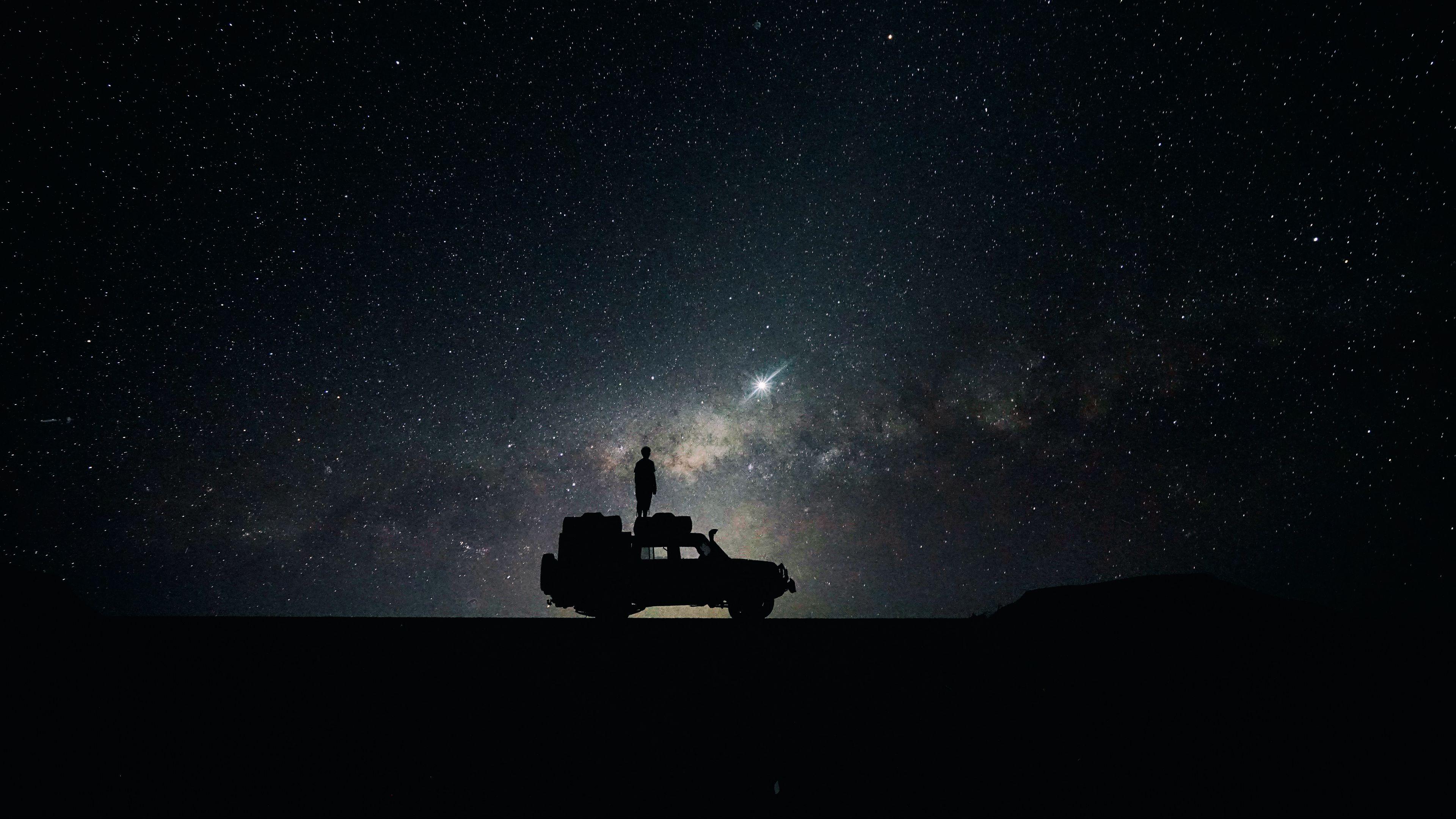 Hd wallpaper ultra - Preview Wallpaper Stars Sky Space Car 3840x2160
