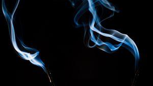 Preview wallpaper incense, smoke, curves, dark