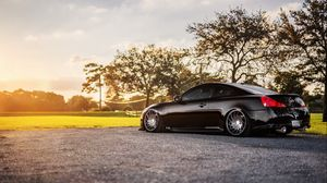 Preview wallpaper infiniti, g35, g37, black, nature, side view