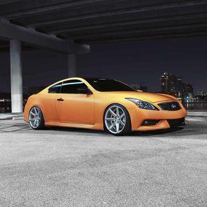 Preview wallpaper infiniti, g-series, g37, orange, cars, style