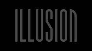 Preview wallpaper illusion, inscription, dark, letters, word