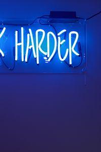 Preview wallpaper inscription, lighting, neon