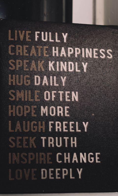 480x800 Wallpaper inscription, motivation, poster