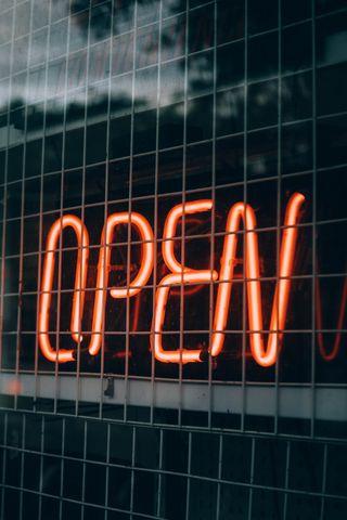 320x480 Wallpaper inscription, open, backlight