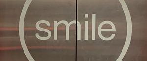 Preview wallpaper inscription, words, smile, doors