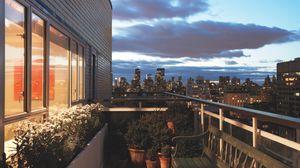Preview wallpaper interior, design, style, metropolis, city apartment, living space, balcony