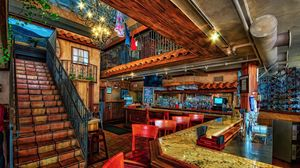 Preview wallpaper interior, staircase, bar