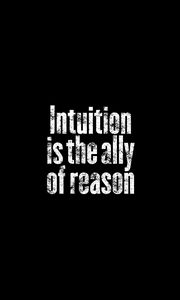 Preview wallpaper intuition, phrase, words, text, black and white