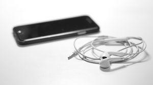 Preview wallpaper iphone, earphones, smartphone