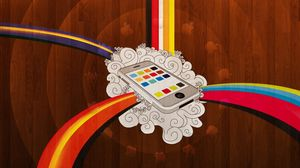 Preview wallpaper iphone, phone, colorful, rainbow, background